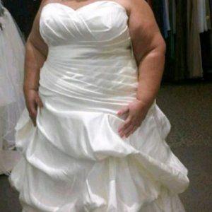 DAVID'S BRIDAL NEW WITH TAGS WEDDING DRESS